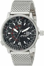 Citizen Promaster Eco-Drive Nighthawk Mens Pilots Mesh Watch BJ7008-51E