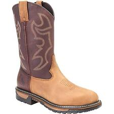 Rocky Original Ride Branson Roper Western Boots Tan And Bridle Brown FQ0002732