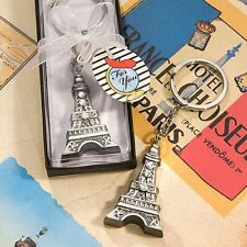 6 X Love In Paris Eiffel Tower Keyring Keychain Wedding & Party Bag Favours