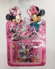 Lot Mickey Minnie Mouse Children Cartoon Purses Wallets bags & Hair Clips Sets