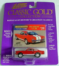 1998 Johnny Lightning Classic Gold #20 1966 SHELBY GT 350 Mustang 1:64 LE MIP!