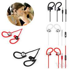 3.5mm Sports Running Gym In-Ear Stereo Hook Earphone Mic Headset For Cell Phone