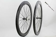 Dimple finish R36Hub 25mm width 58mm Clincher Tubular carbon bike road wheelset