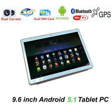 9.6 inch Tablet PC 16GB Android 5.1 3G phone Call Bluetooth Quad-core Pad Black