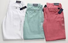 NWT POLO RALPH LAUREN  FLAT FRONT CLASSIC FIT COTTON CHINO PANTS msrp $85