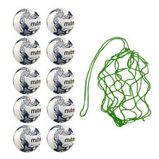 NEW Net of 10 Mitre Primero Soft Touch Balls - Quality Training Football Bundle