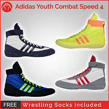 Brand New Adidas Combat Speed 4 Youth Wrestling Shoes With Free Wrestling Socks