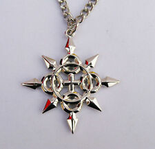 Kingdom Hearts Axel Eternal Flames Symbol Logo Metal Necklace Pendant Amulet Hot