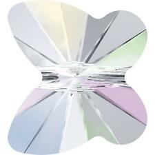 SWAROVSKI CRYSTAL BUTTERFLY BEADS *4-12mm *CLEAR-AB-COLOURS *5754*GENUINE