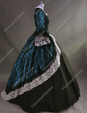 Colonial Victorian Dress Ball Gown Steampunk Women Witch Halloween Costume 164