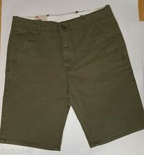 Levis Green Flat Front Straight Chino Shorts Mens Size: 30, 32, 33, NWT