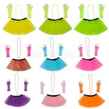 3pcs 1980s Adult Women Tutu Skirt Hen Party Fancy Dress Party Costumes Cosplay
