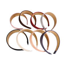 8 Colors Vintage Wide Solid Artificial Leather Headband Hair Band Accessories