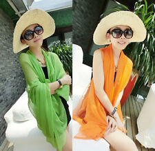 Women Scarf Chiffon Beach Cover Up Wrap Dress Swimwear Bikini Pareo Sarong