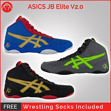 Brand New ASICS JB Elite V2 Wrestling Shoes With Free Wrestling Socks