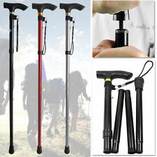 EASY FOLDING WALKING STICK ADJUSTABLE LIGHTWEIGHT ALUMINIUM ALLOY WALKING