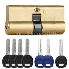 Brass Key Cylinder Door Lock Barrel High Security Anti Snap/Drill/Pick 7 keys