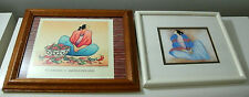 R. C. Gorman Lady In Blue/Pink Blanket & Chili Fiesta Framed Lithograph