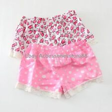 Women Sexy Boyshorts Lace Elastic Satin Pajama Shorts Casual Loose Short Pants