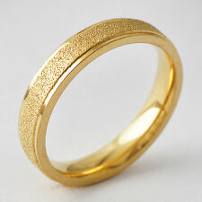 Classic Unisex Yellow Gold Filled Band Promise Love Band Ring Size 8 9 10 11