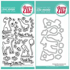 "Avery Elle ""STORYBOOK"" Clear Stamps Only OR Clear Stamp and Die Bundle"