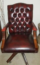 60 sixties 70 seventies vintage leather chesterfield desk office chair antique leather office chair