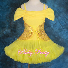 Sequin Girl Dance Dress Pettidress Pettiskirt Tutu Birthday Party Size 2y-9y 107