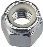 "3/4"" UNF NYLOC NUTS ZINC PLATED PACK OF 4"