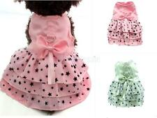 Dog Pet Puppy Female Princess Dress Clothes Costume Skirt Wedding Apparel PICK