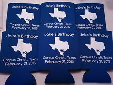 Texas 40th Birthday Koozies 188427007 no minimum personalized party favors