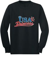 USA Princess Baby Girl 4th of July American Toddler/Kids Long sleeve T-Shirt