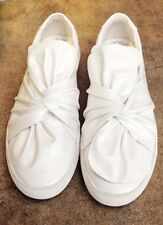 Oversize Twist Bow Leather Skate Slip-Ons Loafers Sneakers Black or White