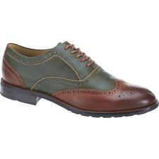 NEW Mens SEBAGO Green / Chestnut Leather DRESDEN WING TIP Oxfords Shoes B810513