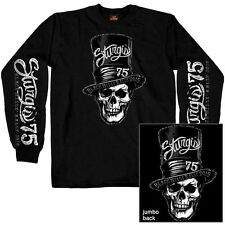2015 Sturgis Motorcycle Rally Stovepipe Skull Black Long Sleeve shirt