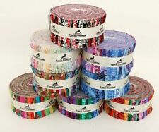 JELLY ROLLS STRIPS PATTERNED PATCHWORK 100% COTTON QUILTING CRAFT FABRIC BUNDLE