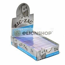 Cigarette Rolling Papers ( Zig Zag Blue Ultra Thin 1 1/4 1.25 ) Made In France Z