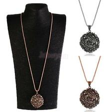 Retro Charm Jewelry Flower Pendant Long Chain Sweater Necklace Fashion Gift