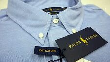 NWT $98 Polo Ralph Lauren LS Knit Mesh Oxford Style Shirt Men Blue Large NEW
