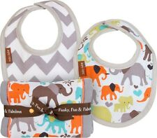 Baby JaR Burp N Drool Bib and Burp Cloth Cotton Muslin Gift Set Infant Boy Girl