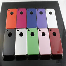 THE CLASSIC SHINY SERIES LOOK PLAIN HARD BACK CASE COVER FOR APPLE IPHONE 4 & 4S