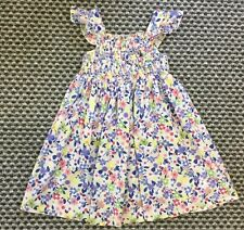 GIRLS BLUE ZOO BEAUTIFUL BLUE, YELLOW, PINK, GREEN FLOWER DRESS AGE 2-3 YEARS ��