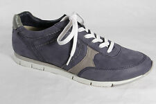 Bugatti Women's Lace-up Shoes Sneakers Low Shoes Real leather Blue New