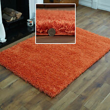 MODERN SMALL X LARGE RUG - THICK 5CM PILE ORANGE MODERN CONTEMPORARY SHAGGY RUGS