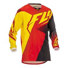 2016 Fly Racing Kinetic MX Motocross Jersey - Red / Black / Yellow