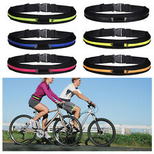 Sport Zipper Pack Belly Waist Bum Bag & Fitness Running Jogging Pouch Belt
