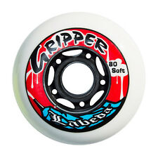 8pk Labeda Grippers Indoor Roller Inline Hockey Wheels X-Soft Soft Med 80mm 76mm