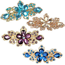 Jewelry Fashion Crystal Hair Clips Flower Rhinestone Metal Hairpin Clip Barrette