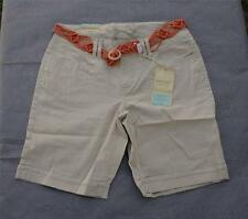 NWT $34 Sonoma Low Rise Stretch Cuffed Bermuda Shorts with Stylish Belt Sz 4 & 8