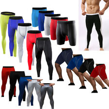 Mens Compression Base Layer Tight Gym Running Pants Under Skins Shorts Leggings