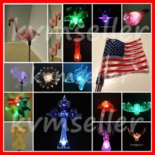 Solar Powered Garden Yard Stake Pathway Lawn Light LED Gift Bird Frog Bee Flower